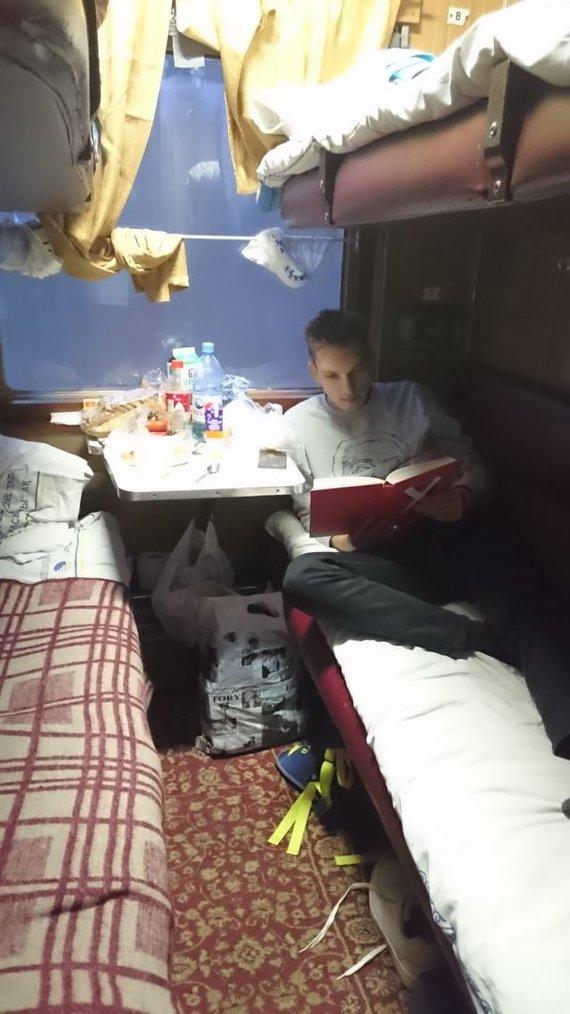 Asmeninė nuotr./Jau per pirmą kelionę traukiniu perskaičiau abi pasiimtas knygas