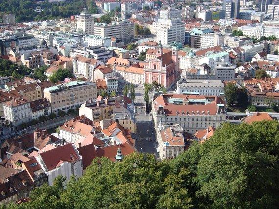 Vaido Mikaičio nuotr./Liublianos panorama nuo Liublianos pilies
