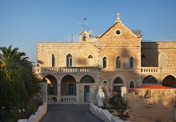 123rf.com nuotr./Betliejus, bažnyčia, priimanti piligrimus