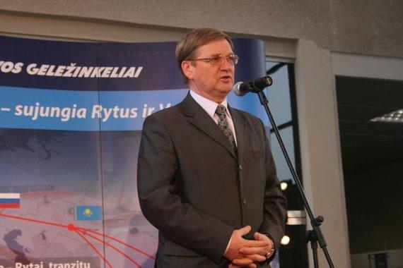 """Aurelijos Kripaitės/15min.lt nuotr./""""Lietuvos geležinkelių"""" vadovas Stasys Dailydka"""