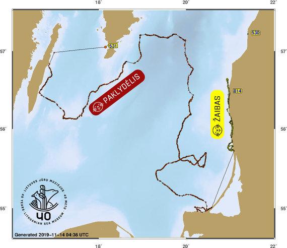 Jūrų muziejaus nuotr./Muziejininkai, stebėdami siųstuvų duomenis, pamatė, kur atsidūrė Klaipėdoje išslaugyti ruoniai.