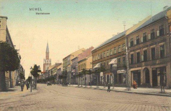 Mažosios Lietuvos istorijos muziejaus nuotr./Turgaus gatvė XX a.pradžioje