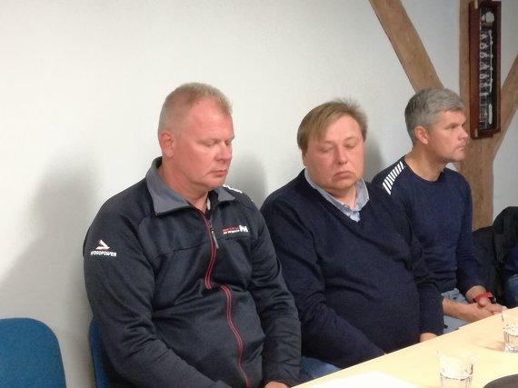 J. Andriejauskaitės / 15min nuotr./V.Bogūnas, O.Kudzevičius ir A.Pivoriūnas (iš kairės)