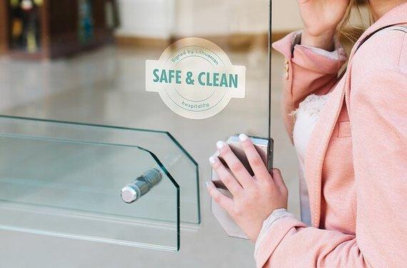 """Pranešimo autorių nuotr./Naujas ženklas """"Safe and Clean"""""""