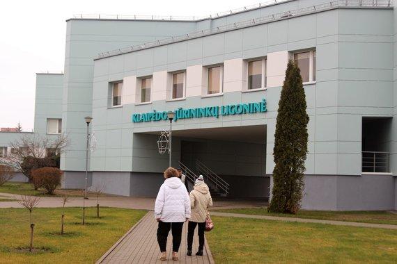 J. Andriejauskaitės / 15min nuotr./Klaipėdos Jūrininkų ligoninėje lankosi FNTT pareigūnai.