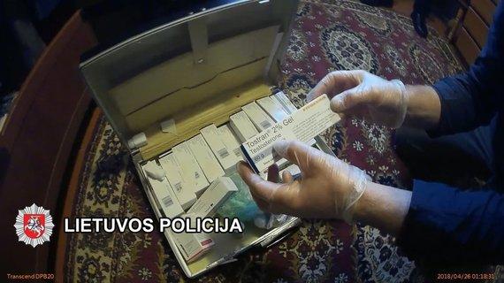Klaipėdos VPK nuotr./B.Vyšniauskas įtariamas draudžiamų medžiagų platinimu.