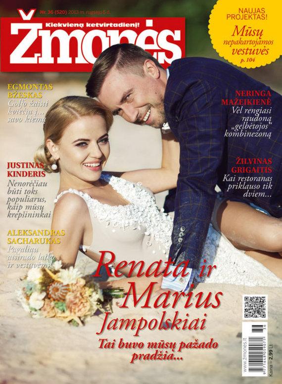 """Žurnalo """"Žmonės"""" viršelis/Renata Uzialkaitė ir Marius Jampolskis"""