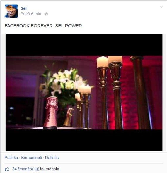 """Įrašas grupės SEL paskyroje """"Facebook"""""""