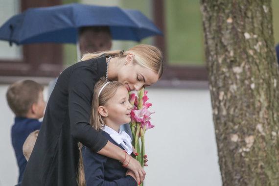 Beno Dragūno/15min nuotr./Goda Alijeva su dukra Tėja