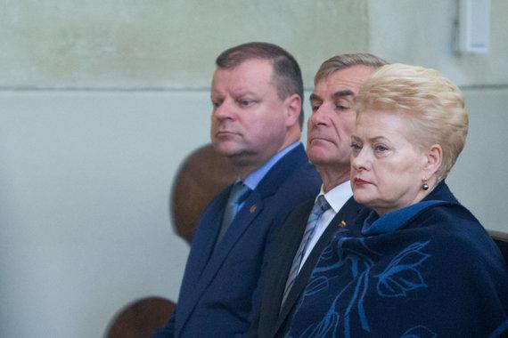 Juliaus Kalinsko / 15min nuotr./Saulius Skvernelis, Viktoras Pranckietis, Dalia Grybauskaitė