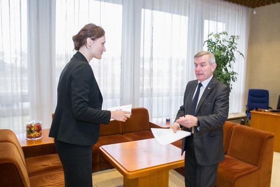 Juliaus Kalinsko / 15min nuotr./Viktoras Pranckietis ir Viktorija Čmilyte-Nielsen