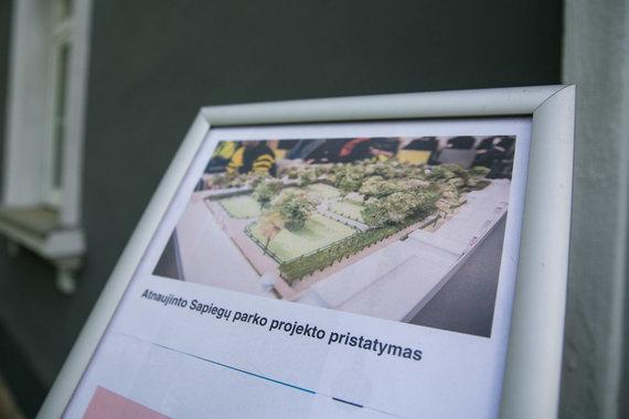 Juliaus Kalinsko / 15min nuotr./Atnaujinto Sapiegų parko projekto pristatymas