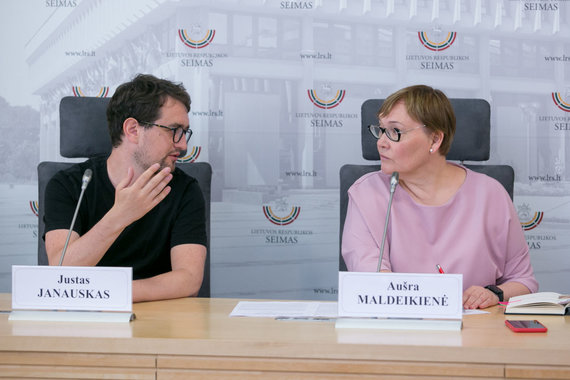 Juliaus Kalinsko / 15min nuotr./Justas Janauskas ir Aušra Maldeikienė