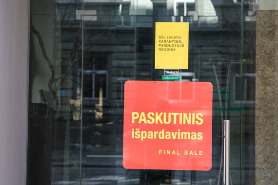 Juliaus Kalinsko / 15min nuotr./Laikinai sustojęs verslas Vilniuje