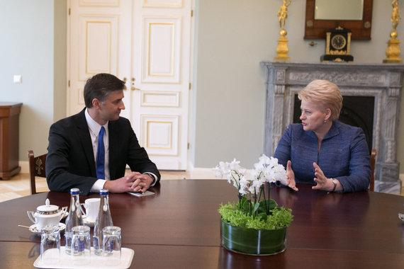 Juliaus Kalinsko / 15min nuotr./Jaroslavas Neverovičius ir Dalia Grybauskaitė