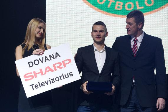 Juliaus Kalinsko/15min.lt nuotr./Perspektyviausias Lietuvoje žaidžiantis jaunasis futbolininkas: Donatas Kazlauskas