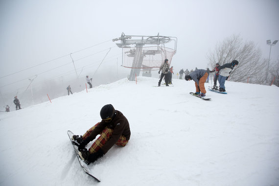 Juliaus Kalinsko/15min.lt nuotr./Liepkalnio slidinėjimo trasoje