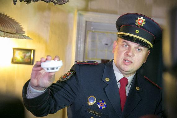 Juliaus Kalinsko / 15min nuotr./Prevencinės ugniagesių akcijos akimirka