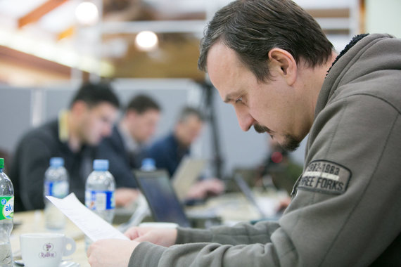 "Juliaus Kalinsko / 15min nuotr./Pratybų ""Kibernetinis skydas 2017"" akimirka"