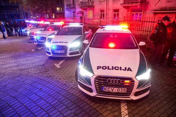 Juliaus Kalinsko / 15min nuotr./Naujo dizaino tarnybinių policijos automobilių pristatymas