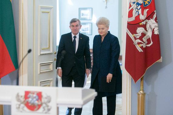 Juliaus Kalinsko / 15min nuotr./Viktoras Pranckietis ir Dalia Grybauskaitė