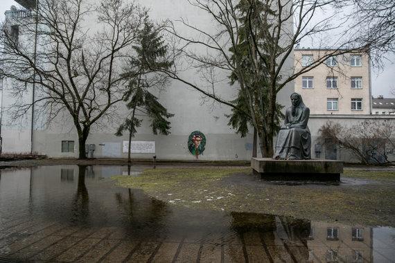 Juliaus Kalinsko / 15min nuotr./Apsemtas Žemaitės paminklas