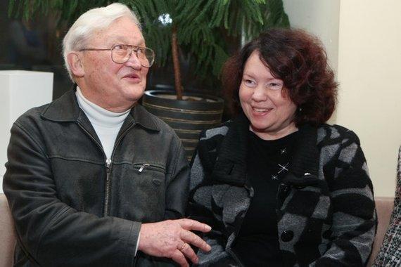 Juliaus Kalinsko / 15min nuotr./Algimantas Čekuolis su žmona Edita Čekuoliene