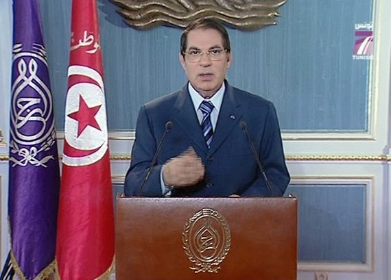 """Scanpix"" nuotr./Nuverstas Tuniso lyderis Zine al-Abidine Ben Ali"