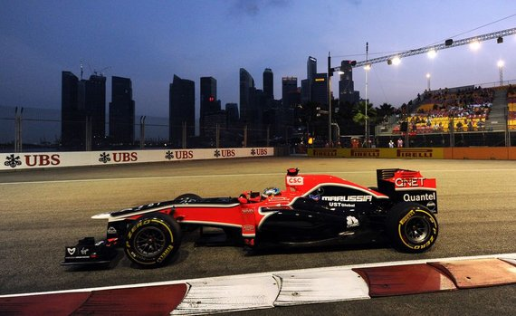 """Marussia"" F-1 bolidas su ""Cosworth"" varikliu"