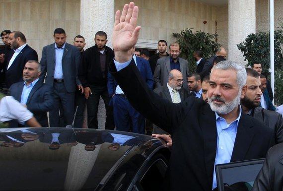 """Reuters""/""Scanpix"" nuotr./""Hamas"" lyderis Ismailas Haniya"