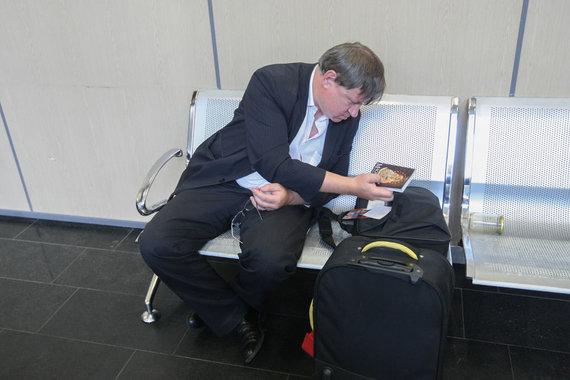 15min.lt/Juliaus Kalinsko nuotr./Egidijus Vareikis Vilniaus oro uoste