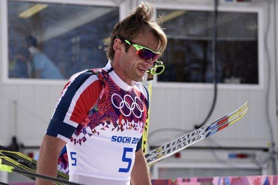 "AFP/""Scanpix"" nuotr./Norvegijos slidininkas Petteris Northugas"