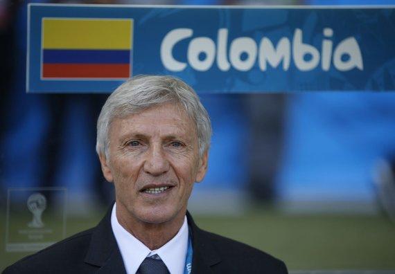 """""""Reuters""""/""""Scanpix"""" nuotr./Kolumbijos futbolo rinktinės treneris Jose Pekermanas"""