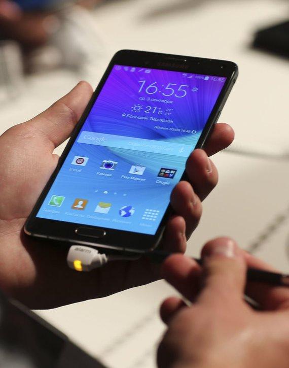 """Reuters""/""Scanpix"" nuotr./""Samsung Galaxy Note 4"""