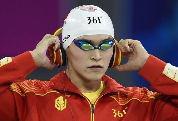 """AFP/""""Scanpix"""" nuotr./Kinijos plaukikas Sunas Yangas"""
