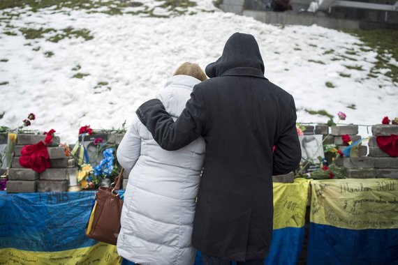 """""""Scanpix""""/""""LaPresse"""" nuotr./Kijeve minimos Maidano aukų žūties metinės"""