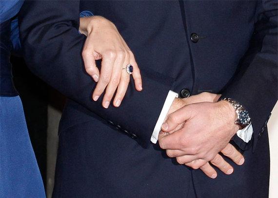 """""""Reuters""""/""""Scanpix"""" nuotr./Kate Middleton sužadėtuvių žiedas"""