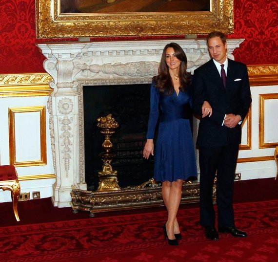 """""""Reuters""""/""""Scanpix"""" nuotr./Kate Middleton su sužadėtiniu princu Williamu"""
