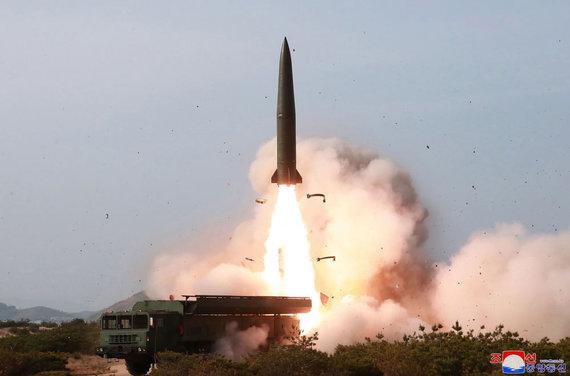 """""""Scanpix""""/AP nuotr./Bandymus stebėjo Kim Jong Unas"""