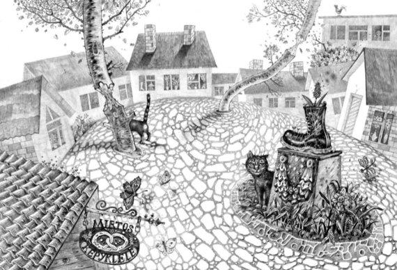 """Leidyklos nuotr./Knygos """"Klampynių kronikos"""" iliustracija"""