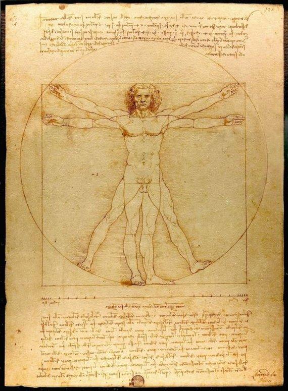 Wikimedia org./Vitruvijaus žmogus