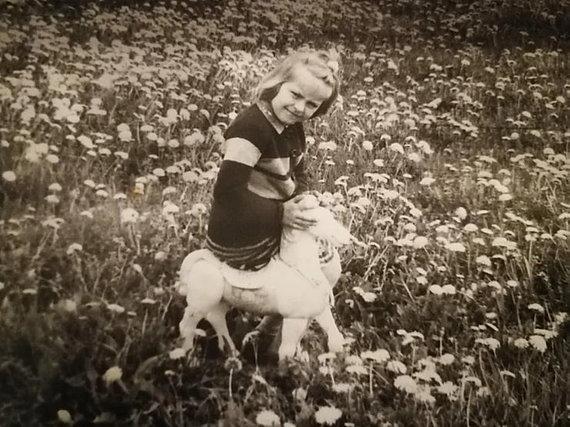 Asmeninio archyvo nuotr./Modesta Jurgaitytė vaikystėje