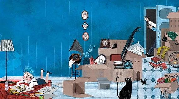 """Knygos """"Ponas Kampas"""" iliustracija"""