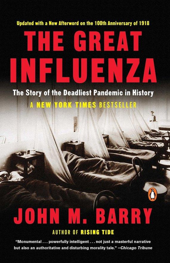 "Knygos viršelis/Knyga ""The Great Influenza"""