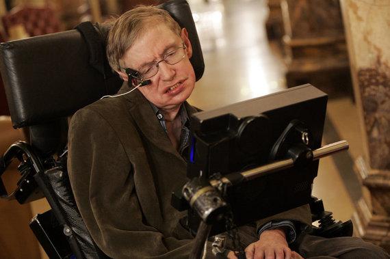 """Scanpix"" nuotr./Stephenas Hawkingas"