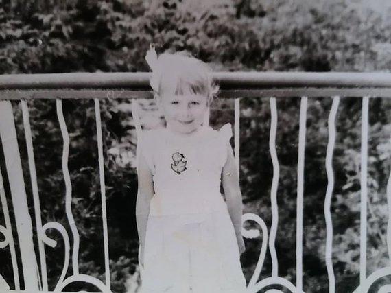 Asmeninio archyvo nuotr./Akvilina Cicėnaitė vaikystėje