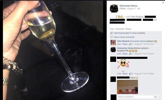 """Deimanto Bugavičiaus įrašas """"Facebook"""" tinkle"""