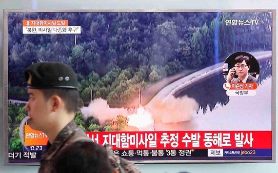 """""""Reuters""""/""""Scanpix"""" nuotr./Šiaurės Korėja atliko dar kelis raketų bandymus"""