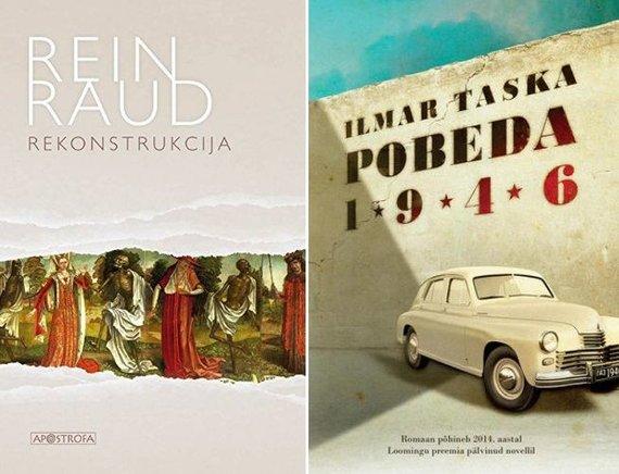 """Knygų viršeliai/Reino Raudo knyga """"Rekonstrukcija"""" ir Ilmaro Taskos knyga """"Pobeda1946"""""""