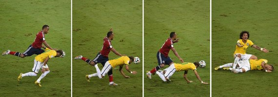 """AFP/""""Scanpix"""" nuotr./Zunigos ir Neymaro incidentas pasaulio čempionate"""